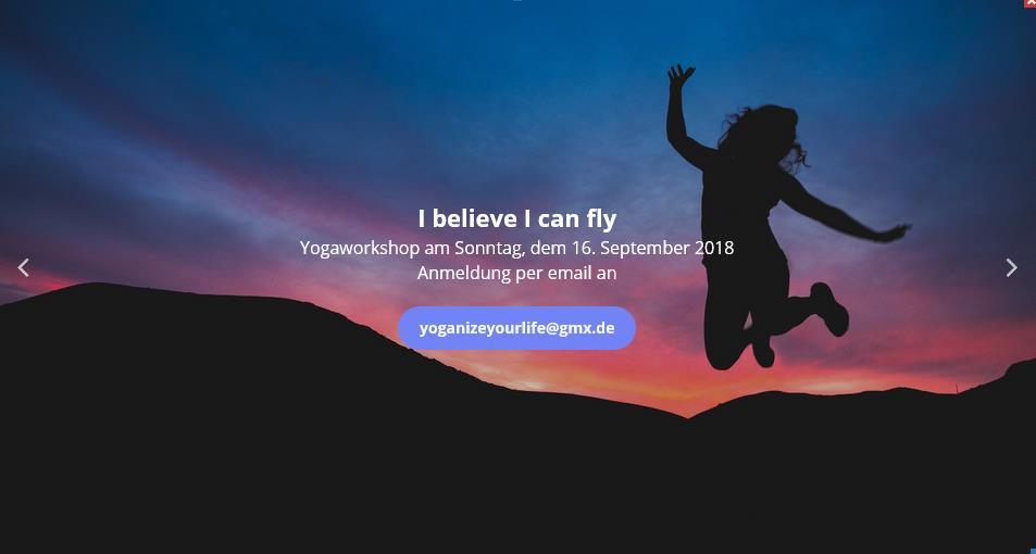"YOGA Workshop I believe i can fly - YOGAWORKSHOP ""I Believe I Can Fly""  16. 09.18"