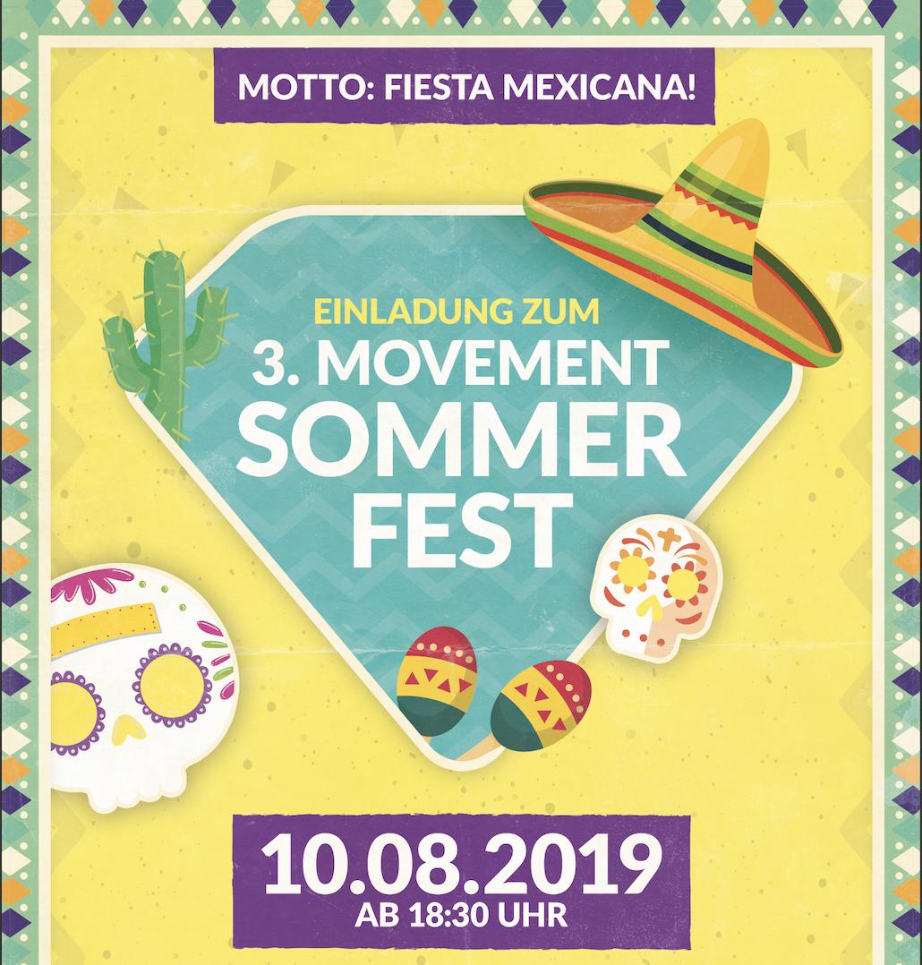 MOVEMENT SOMMERFEST 2019 - FIESTA MEXICANA - JETZT ANMELDEN