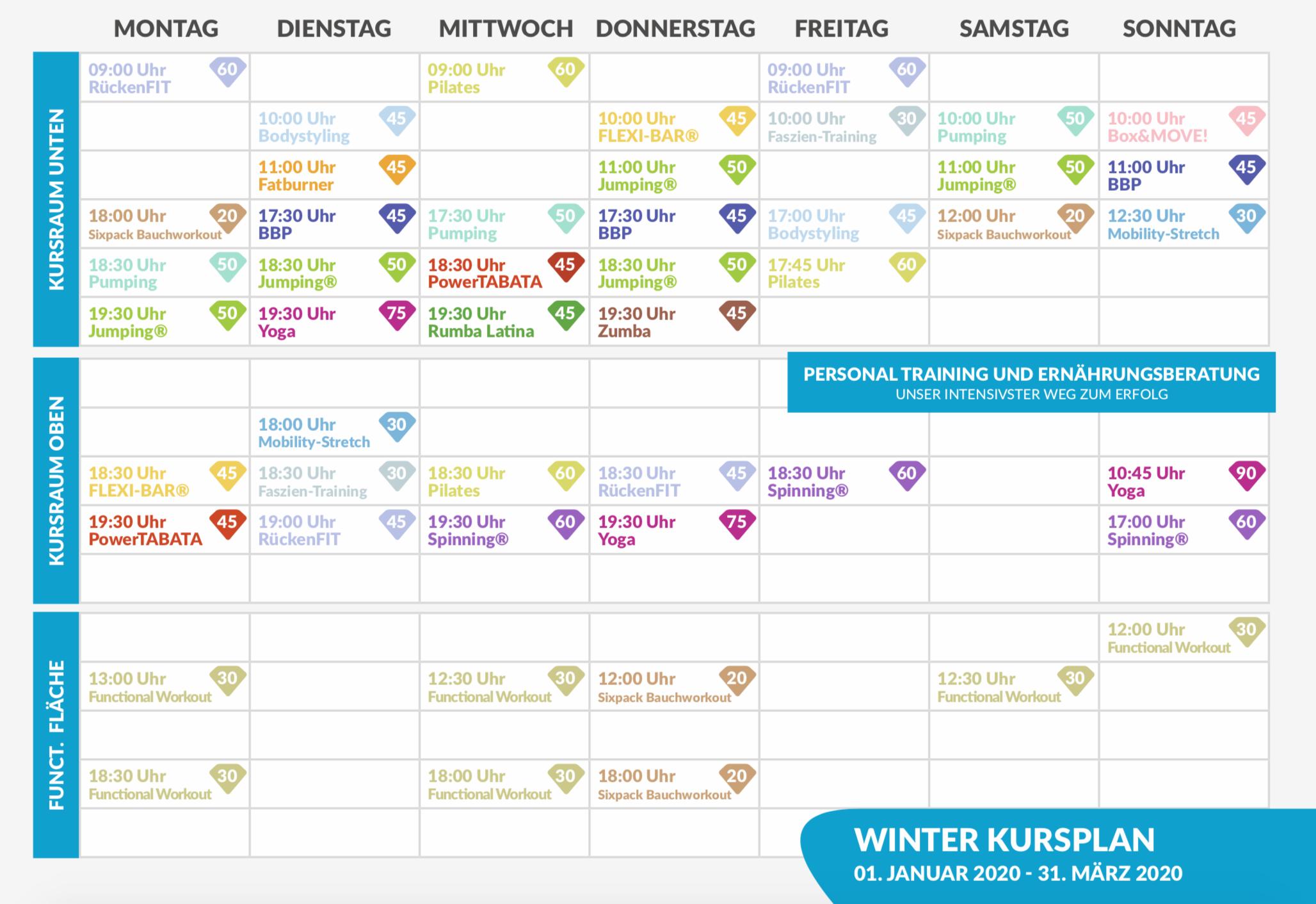 Kursplan Winter2020 MOVEMENT - Kursplan