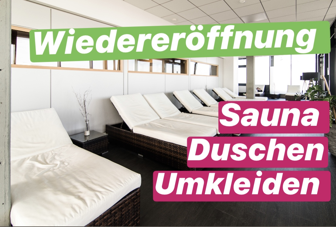 MOVEMENT Fitness Sauna Wellness - ERÖFFNUNG UMKLEIDEN, DUSCHEN, SAUNA UND WELLNESS